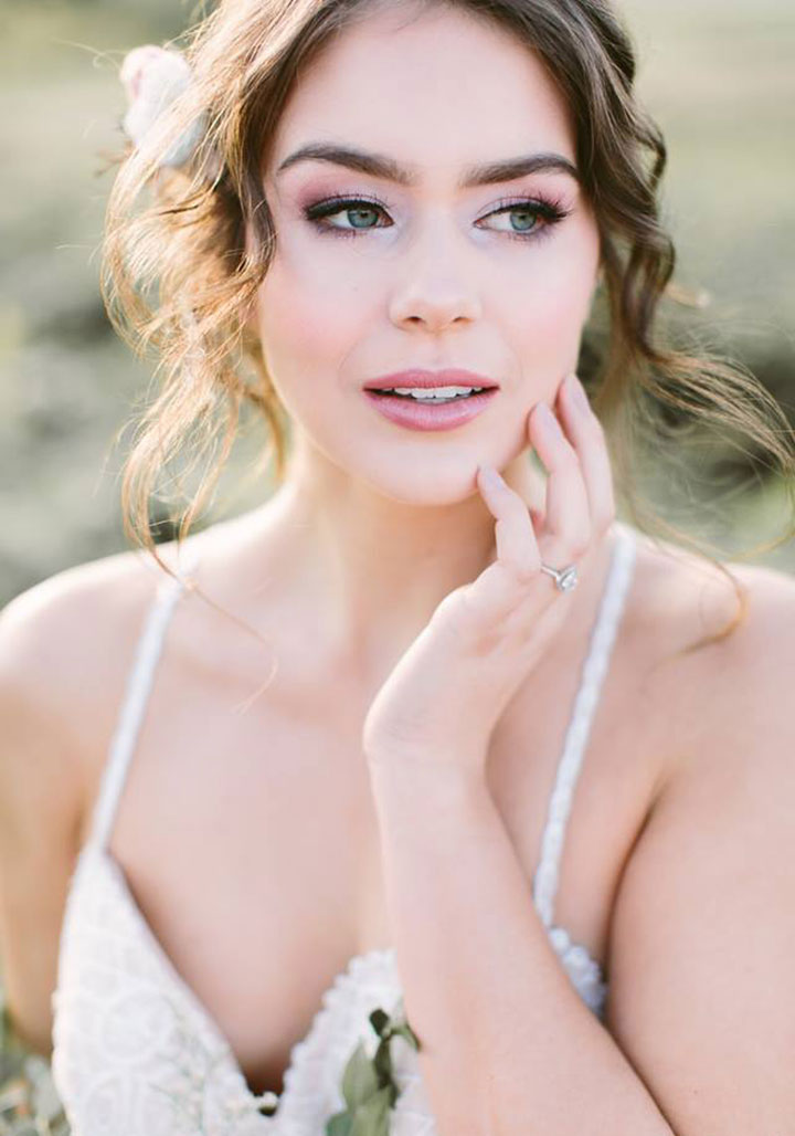 Beautiful Hair & Makeup Inspiration for Brides by Posh Styling