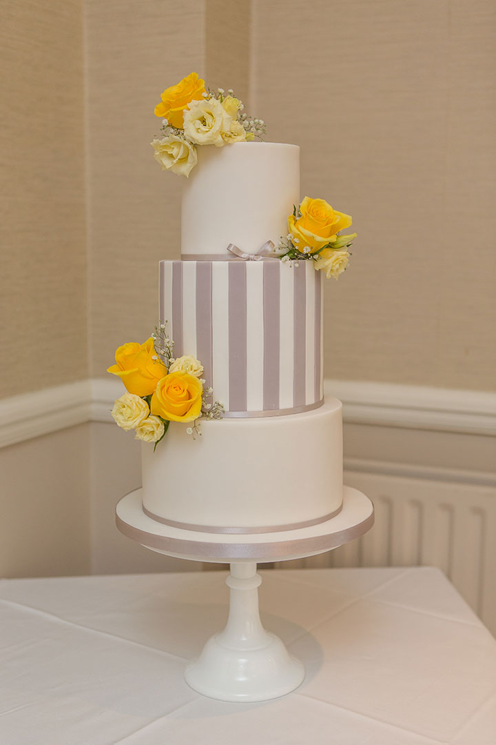 Cheerful Spring Wedding Palette of Yellow & Grey