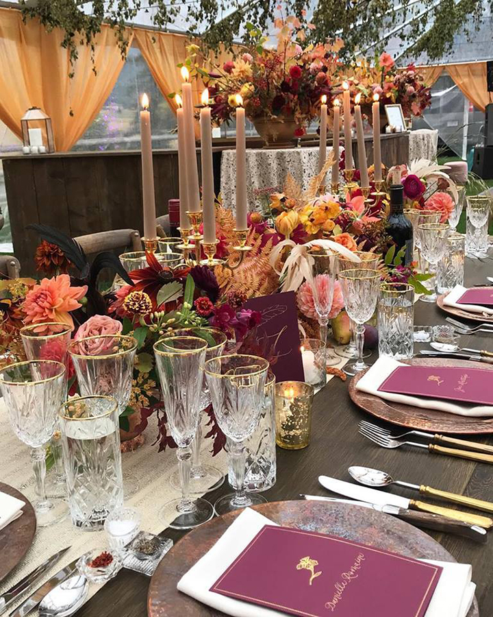 Sneak Peek Of Fabulous Fall Wedding Reception Tent