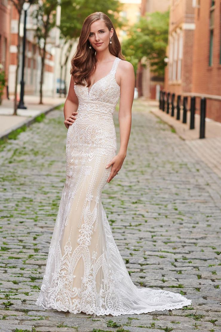 Stunning Beaded Lace and Tulle Sheath Gown