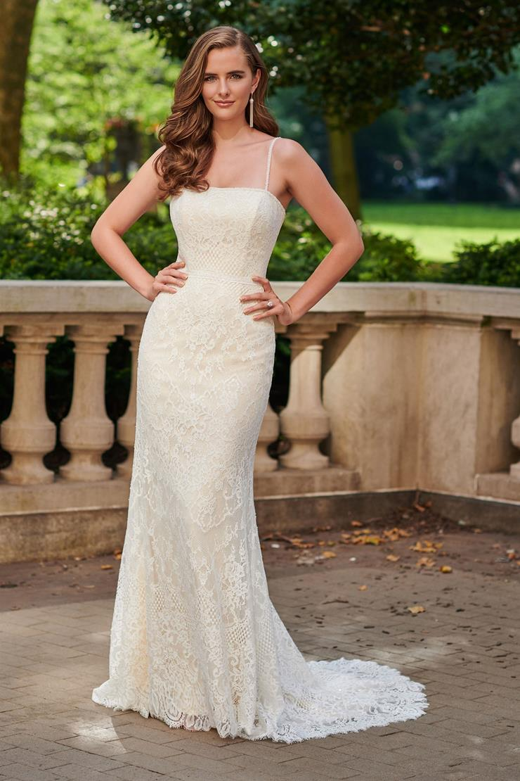 Beautiful Allover Lace and Sequin A-line Gown