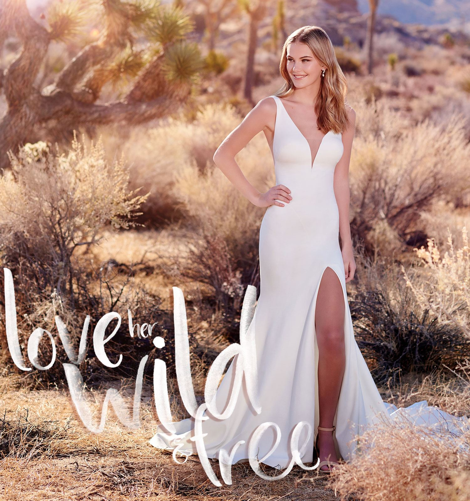 mobile blonde models in white wedding dresses in field